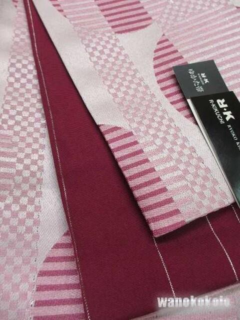 【和の志】RKブランド◇浴衣用小袋帯◇ピンク系◇YKB-112 < 女性ファッションの