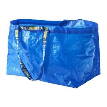 新品IKEAエコバッグイケアエコバッグ BL L