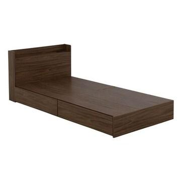 収納付きベッド(収納2分割)ブラウン EMICA100S_BR