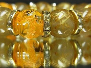 財と幸福をもたらす!!金彫皇帝龍水晶×タイチンルチル数珠ブレス