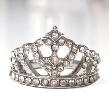 新品[7870](15号)王冠クラウンリング/指輪/色シルバー