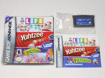 GBA★THE GAME OF LIFE.Yahtzee.PAYDAY 海外版(国内本体動作可