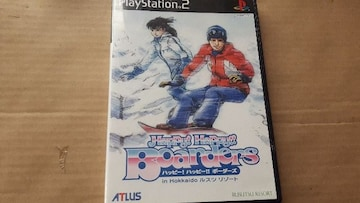 PS2☆ハッピーハッピーボーダーズ☆美品♪スノボーゲーム。ATLUS。