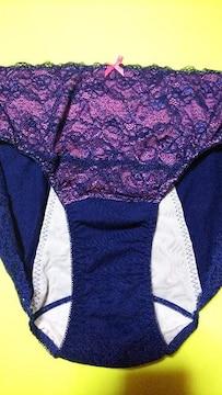 新品 超激カワフロント花柄刺繍レースsexyなサニタリーパンティ(///ω///)♪8L