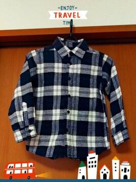 暖かチェックシャツ★120�p