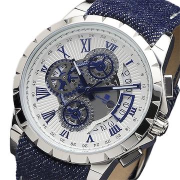 サルバトーレマーラ クオーツ腕時計SM13119D-SSWHBLBL ホワイ