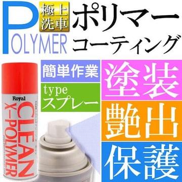 クリーンX ポリマー 420ml スポンジ付 スプレーポリマー ro013