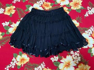 アクシーズ☆ブラックスカート☆ウエストゴム☆Mサイズ