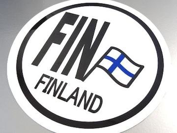 ○円形 フィンランド国旗ステッカービークルID国識別シール