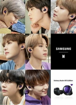 Galaxy buds+BTS Editionトレカ7枚セット+付属ケース付