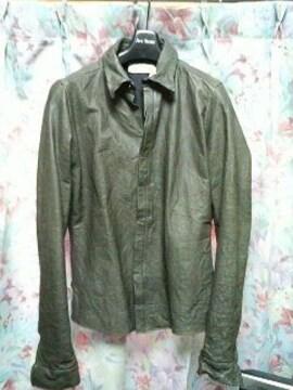 AZレザーシャツジャケットオリーブwjkカルペ
