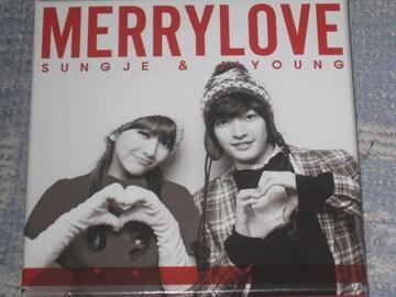 激レア!☆ソンジェ&ジヨンMERRYLOVE/CD+DVD初回限定盤生サイン入り!!
