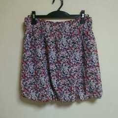 小花柄 バルーン スカート L