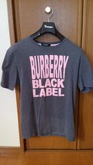 バーバリーブラックレーベル 半袖Tシャツ 灰色 桃色 グレー