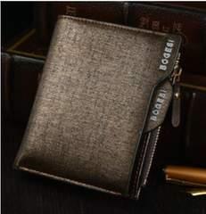 二つ折り財布 小銭入れ カード入れ ブラウン 高品質 レザー