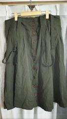 試着のみ カーキ色のスカート3L