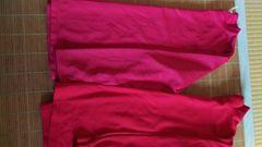 140cm 赤 スポーツTシャツ 長袖 2点セット