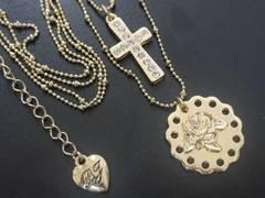 新品ゴスロリ姫系薔薇と十字架ネックレスBETSEY JOHNSON