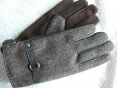 ヘンリーコットンズ ヘリンボーングローブ手袋
