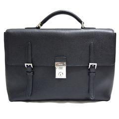 新品プラダPRADAメンズレザービジネスバッグ(ブリーフケース黒