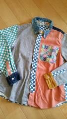 VanaVana..150パッチワークシャツ.クルイジーused