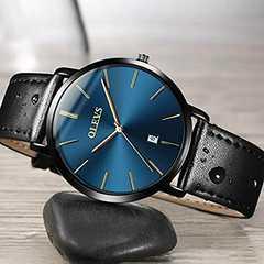 メンズ超薄型 合金腕時計 クオーツアナログ