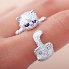 ☆小猫指輪 リング フリーサイズ 調節可能