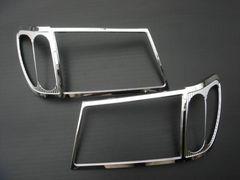 ランドクルーザー100系 メッキ ヘッドライトリング