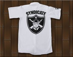 SYNDICATE★ワークシャツ・ギャングスタ★L★白★新品