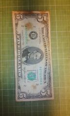 アメリカ旧5ドル紙幣(1985年B券)♪
