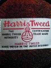 Harris Tweed ハリスツイード ダイソー コラボ 耳あて イヤーウォーマー イヤーマフ レッド