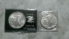 ウォーキングリバティ1ドル銀貨2枚 1986・1987年  999/1000
