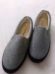 新品 サイズS グレイぺったんこ靴 レターパック510