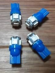 LED T10(青色/超発光SMD/15連級)4個セット