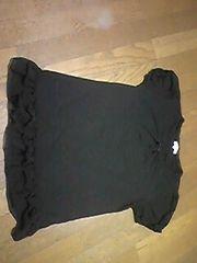 セオリア/Tシャツ/黒/LL/フリル付/まとめ買い歓迎