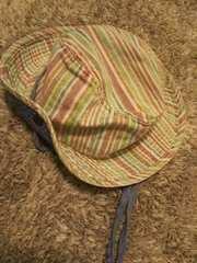 F.O. KIDS ★50 ストライプ柄紐付帽子 キャップ ハンチング