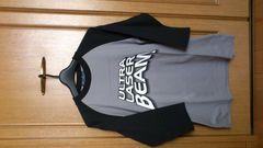 激安89%オフプリント、Tシャツ、7分(新品タグ、黒灰、M)
