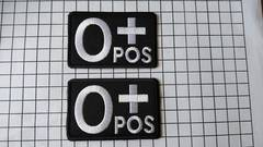 NO.14 アイロンワッペン 血液型 O型