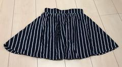 未使用  ストライプ  スカート  140サイズ