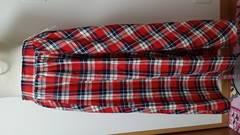 新品 タグ付き チェック ロング スカート