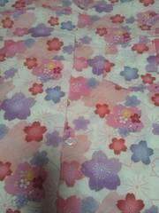 ☆処分品新品=白×桜和柄ダボシャツ140