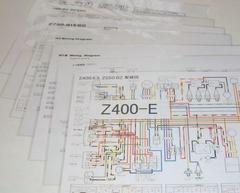 Z1 (73米仕様) Z2 (73初期国内) Z2 (75国内) 配線図ラミネート済