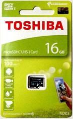 東芝 16GB microSDHC(マイクロSDHCカード16ギガ) 読込Max100MB/s