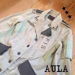 AULA  アウラ  MILITARY JACKET  カーキ  コレクションライン