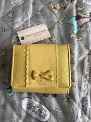 黄色リボン付き二つ折り財布^_^タグ付き^_^