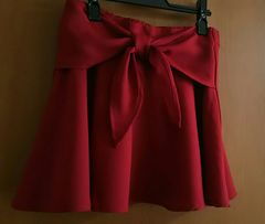 INGNIイング☆真っ赤なフレアースカート☆サイズM