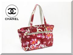 Chanel☆シャネル ナイロン 花柄 トートバッグ