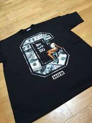 LA直輸入 CASH−MOB100$サイズ2XL  黒TシャツXXL Z?