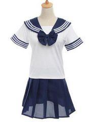セーラー服 制服 コスプレ 衣装 ☆紺ハイソックス付☆ ネイビー