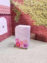 �B新品◆IQOSアイコスケースカバー花柄ラインストーンデコ